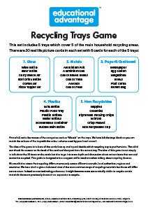 Recycling Game Teacher Guide