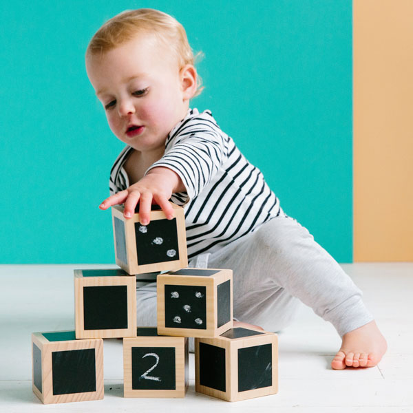 Fun With Chalk Wooden Cubes