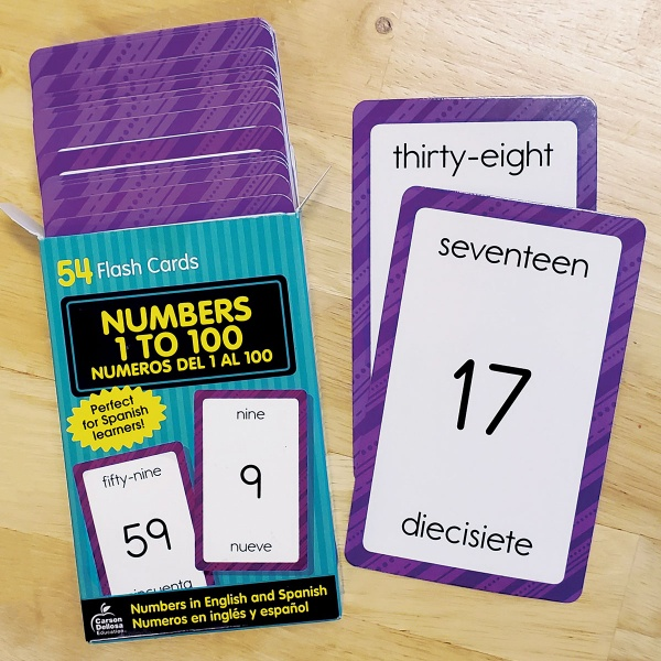 Numbers 1 to 100 Flash Cards