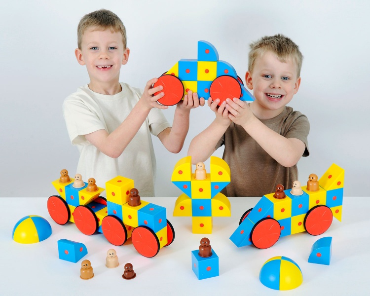 3D Magnetic Blocks Super Class Set