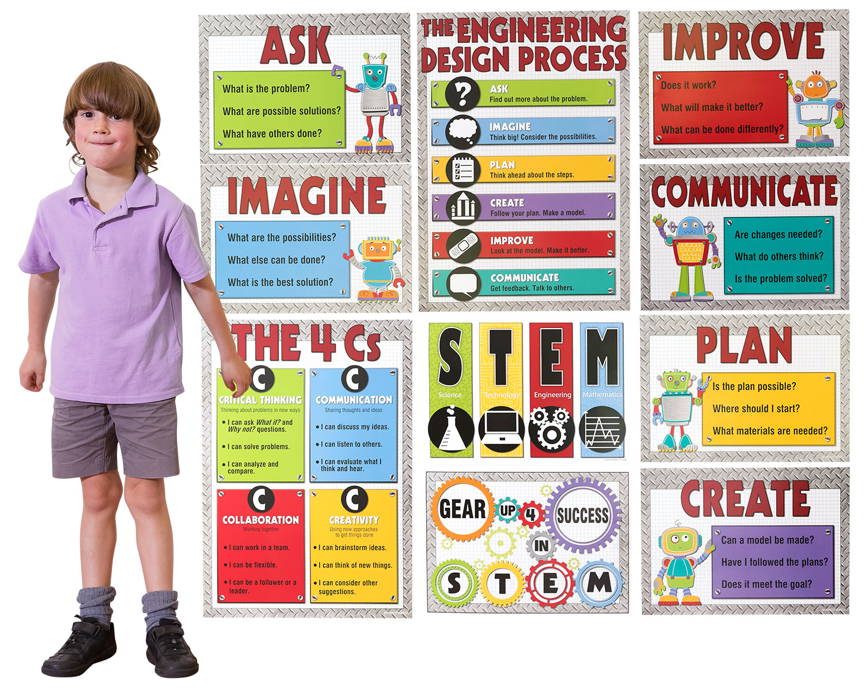 Stem Bulletin Board Set Carson Dellosa Incastro Popular Playthings Roylco Wisdom Distributors
