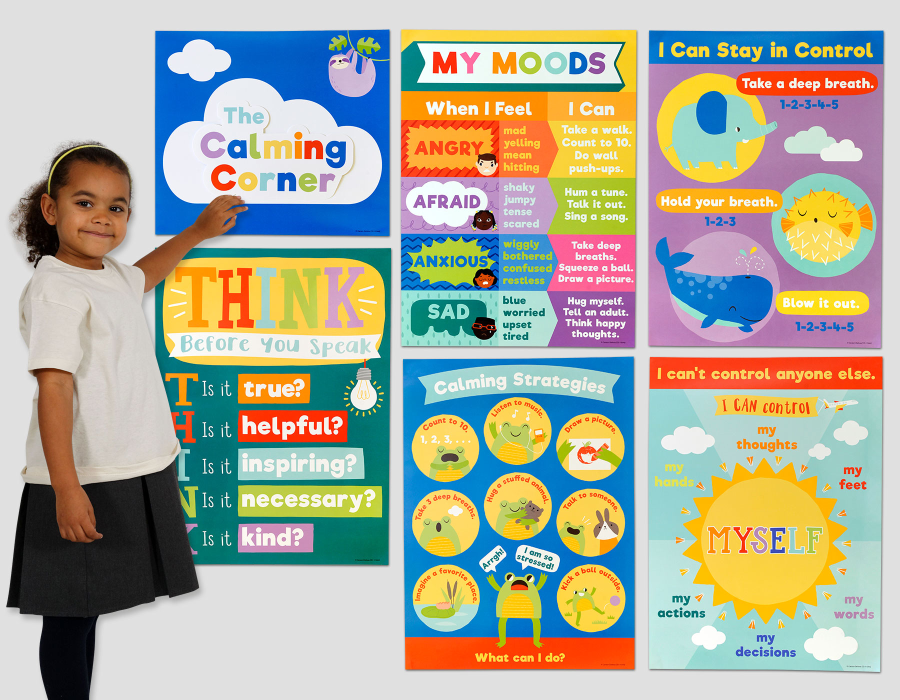 Calming Strategies Poster Set