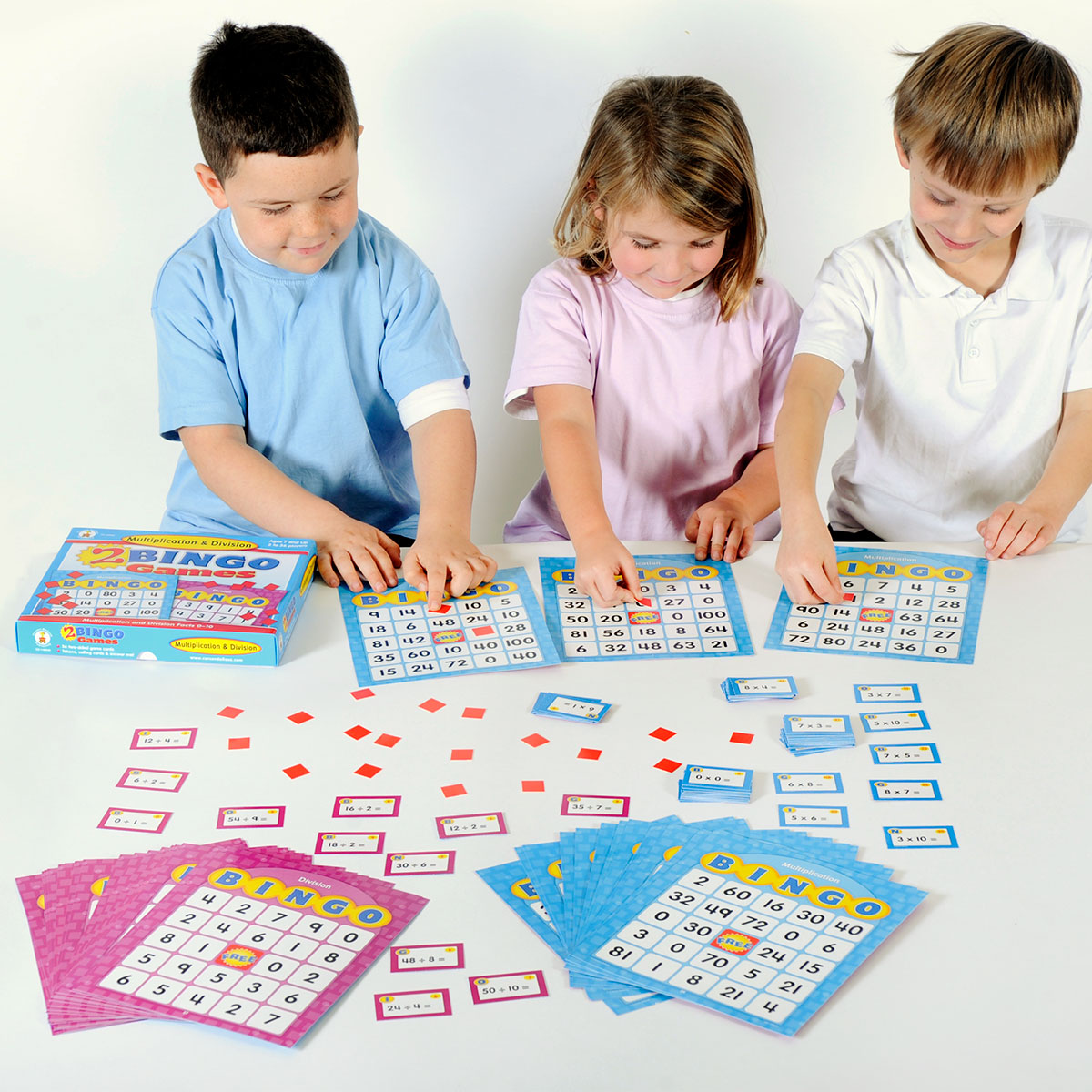 Multiplication and Division Bingo Board Game