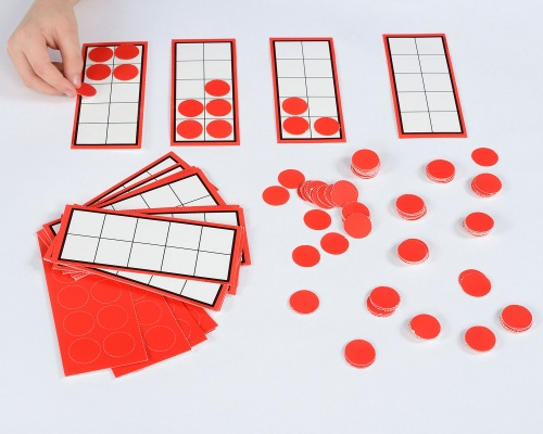 Ten Frames and Counters Cards