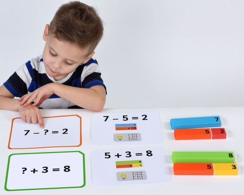 Connecting Number Rods Addition & Subtraction 1-20 Cards