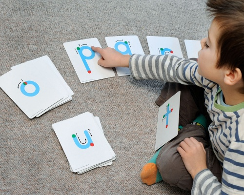 Textured Lowercase Letter Cards
