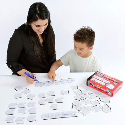 Drywipe Puzzle Pieces with Writing Lines
