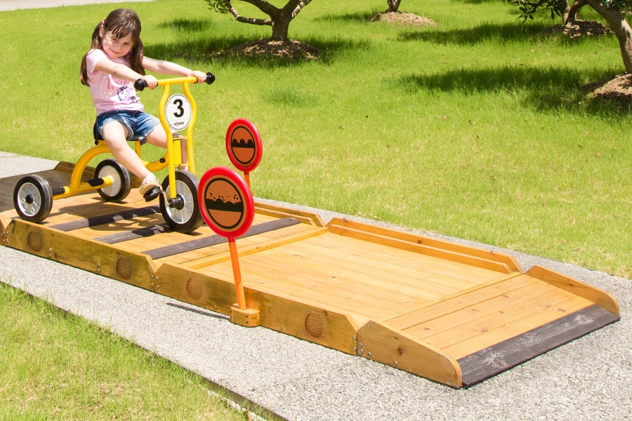 Outdoor Trike Obstacle Course